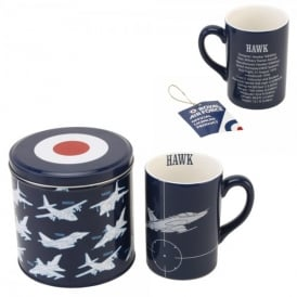 RAF Fine China Mug Hawk - Silhouette Series