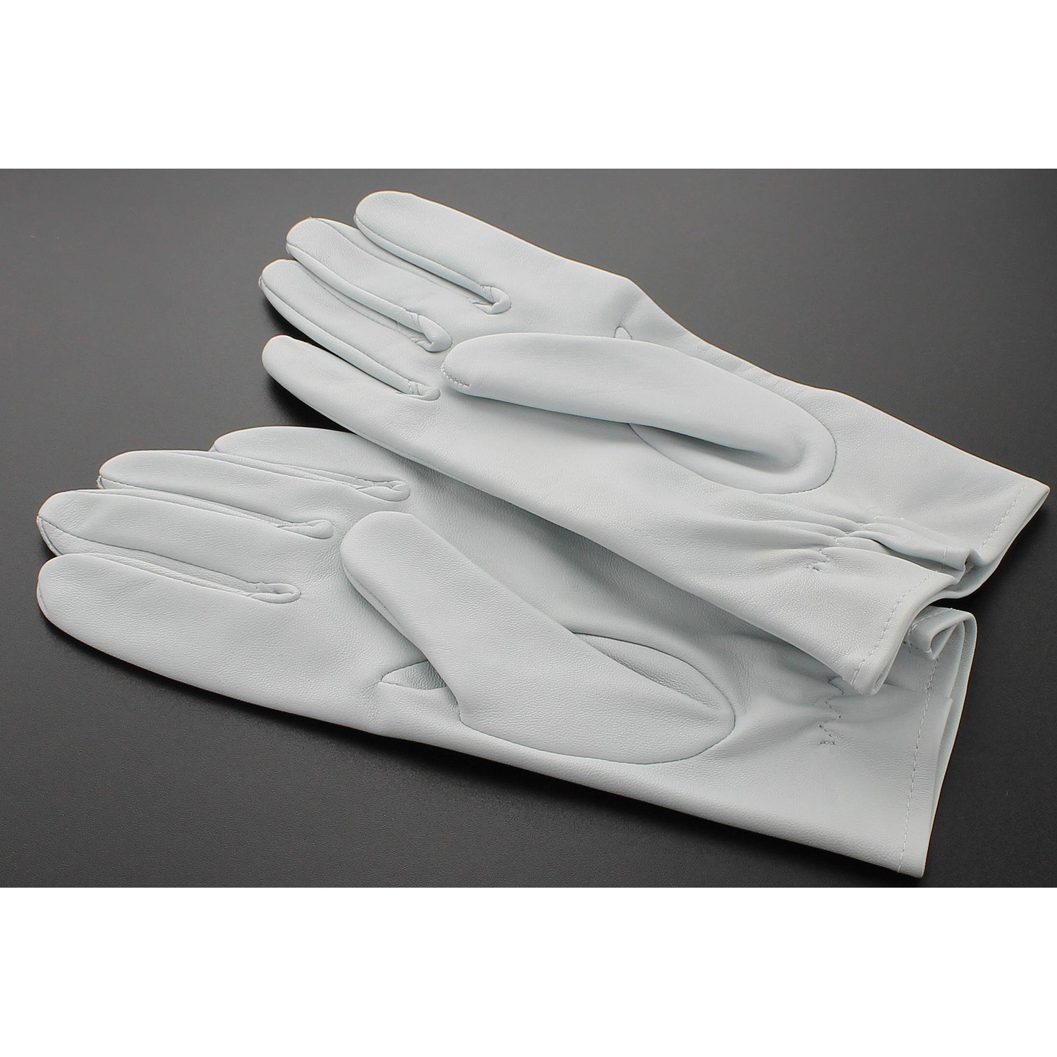 Black leather uniform gloves - Raf Leather Flying Gloves