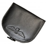 RAF Mens Black Leather Coin Purse