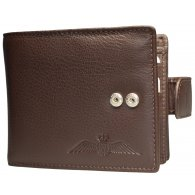 RAF Mens Brown Leather Multi Fold Wallet