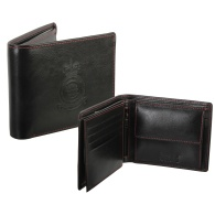 RAF Red Arrows Crest Leather Wallet in Black
