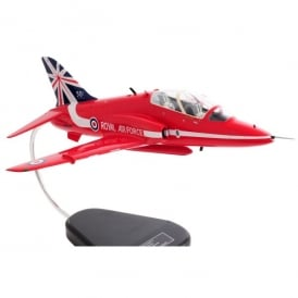 RAF Red Arrows T-1 BAE Hawk with Clear Canopy Wooden Model