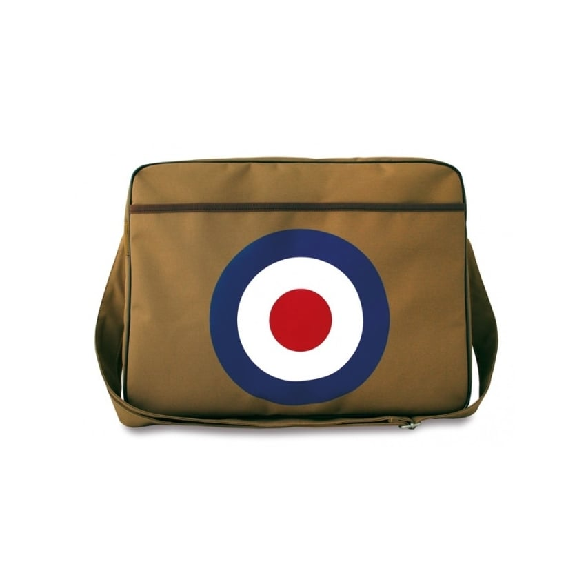 RAF Roundel Canvas Sports Bag in Brown