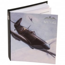 RAF Spitfire Stationery Plain Notebook