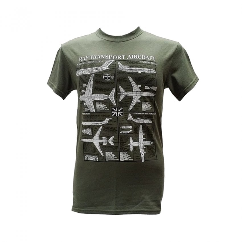 RAF Transport Plan Motif T-Shirt