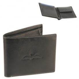 RAF Wings Leather Wallet in Black