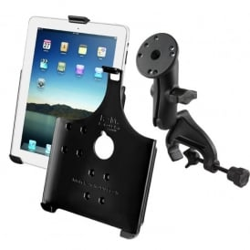 Ram iPad Holder and Yoke Mount Bundle - iPad 2-4