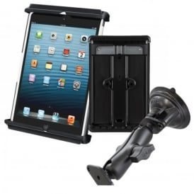 RAM Mounts Ram Tab-Tite iPad Heavy Duty Mini Holder and Suction Mount Bundle