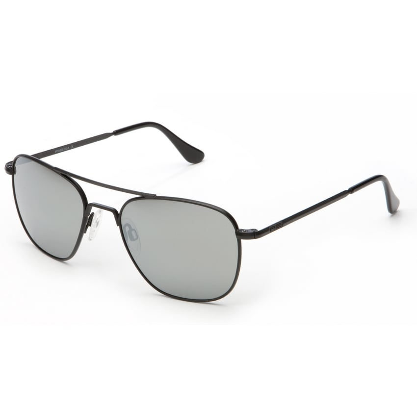 Aviators Black Skull - Grey Mirror Lens