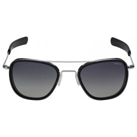 Randolph Aviators Bright Chrome Bayonet - Grey Lens