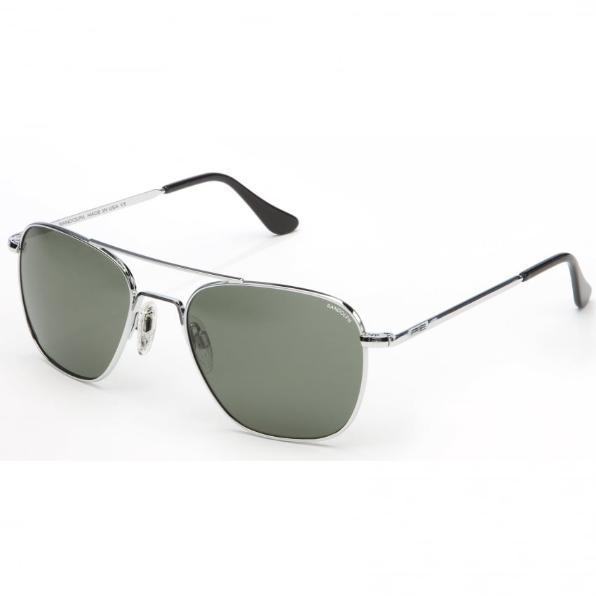 Randolph Aviators Bright Chrome Skull - AGX Lens