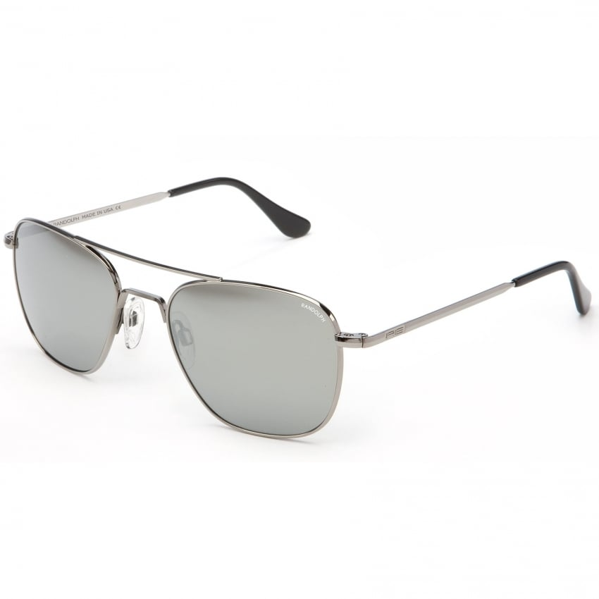 Aviators Gun Metal Skull - Grey Mirror Lens