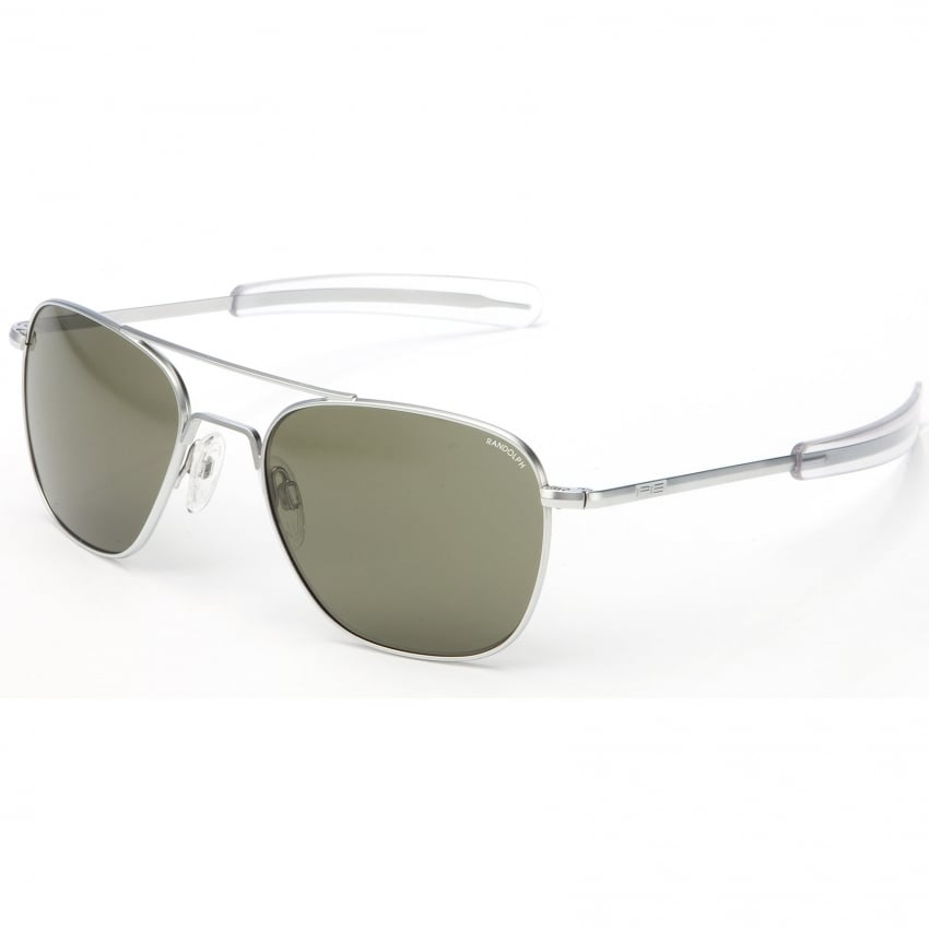 Aviators Matte Chrome Bayonet - Grey Lens