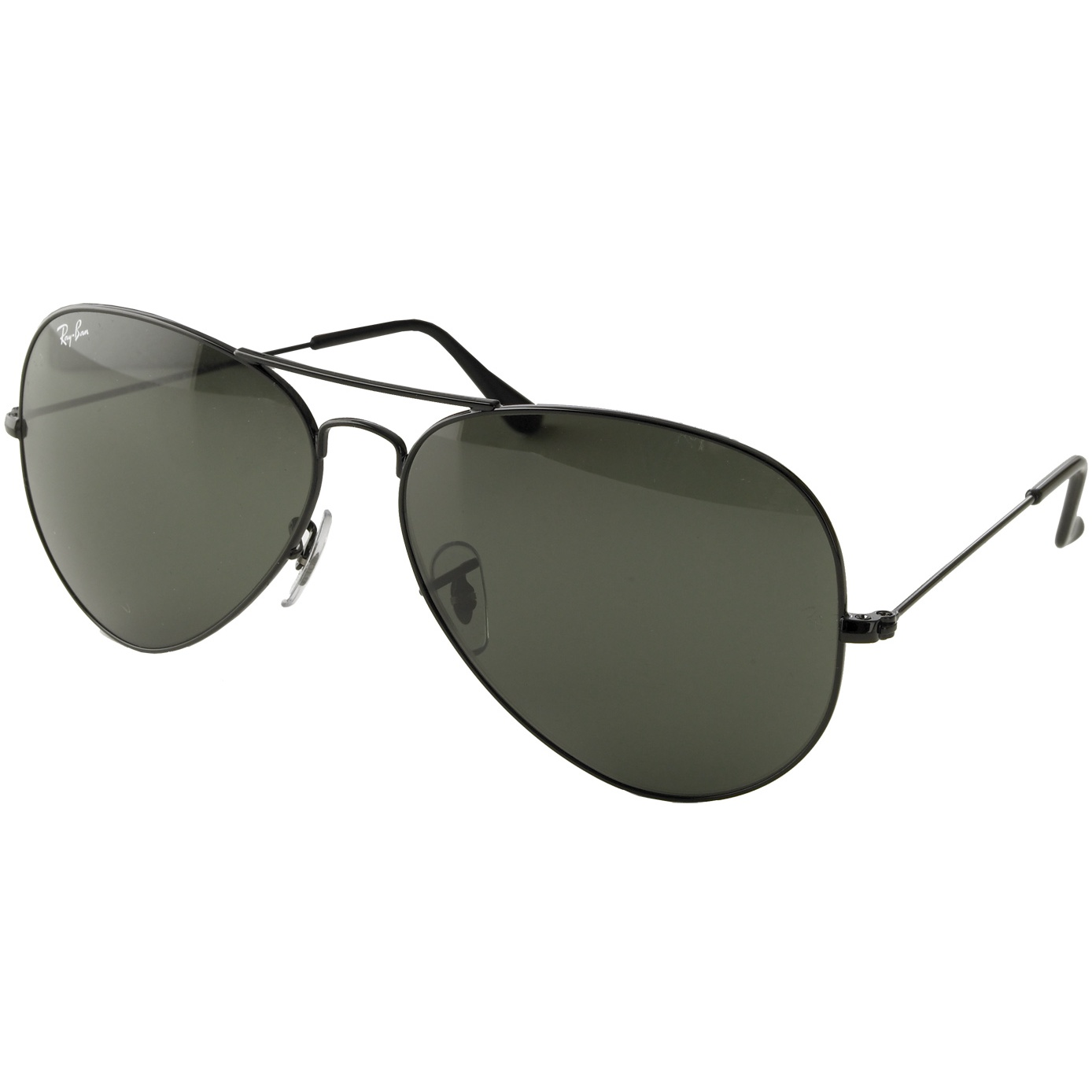 ray ban g15 aviator price  Rayban Aviator Sunglasses - Black Frame with 58mm G-15 Lens