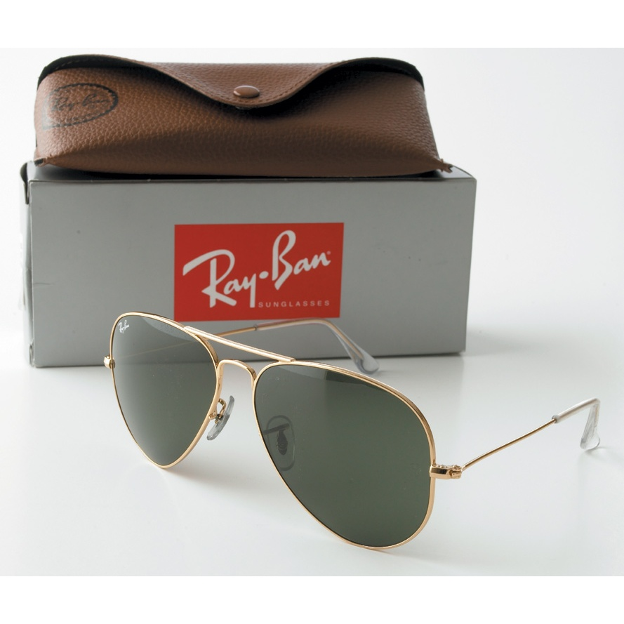 aviator ray ban gold  Rayban Aviator Sunglasses - Gold Frame with 58mm G-15 Lens