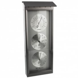 Widdop Rectangle Metal Barometer