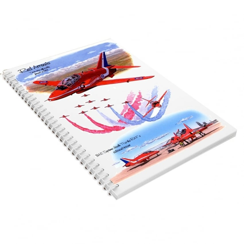 Red Arrows A5 Spiral Notebook