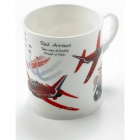 Red Arrows Aircraft China Mug
