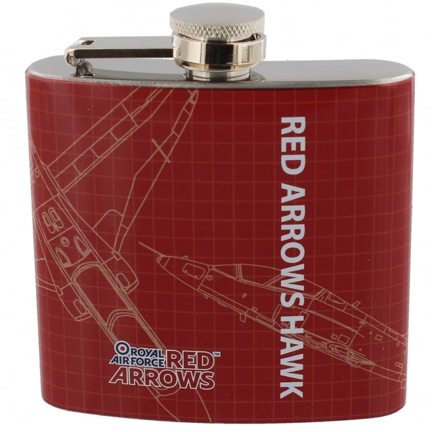 Red Arrows Blueprint Hipflask