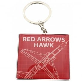 RAF Red Arrows Blueprint Keyring