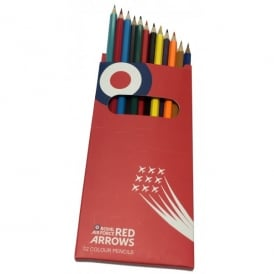 RAF Red Arrows Coloured Pencils - Pack of 12
