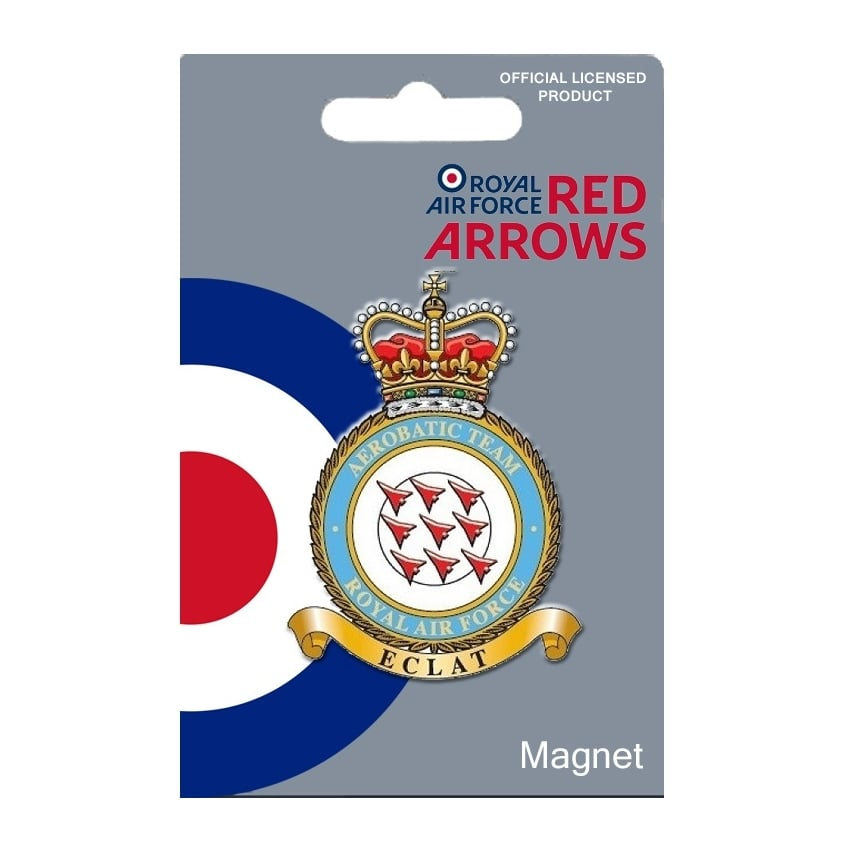 Red Arrows Crest Enamel Fridge Magnet