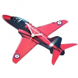 Lark Designs Red Arrows Cut Out Wooden Wall Clock