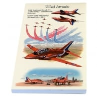 Red Arrows Flip Up Notepad