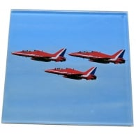 Red Arrows Glass Coaster Single in Box