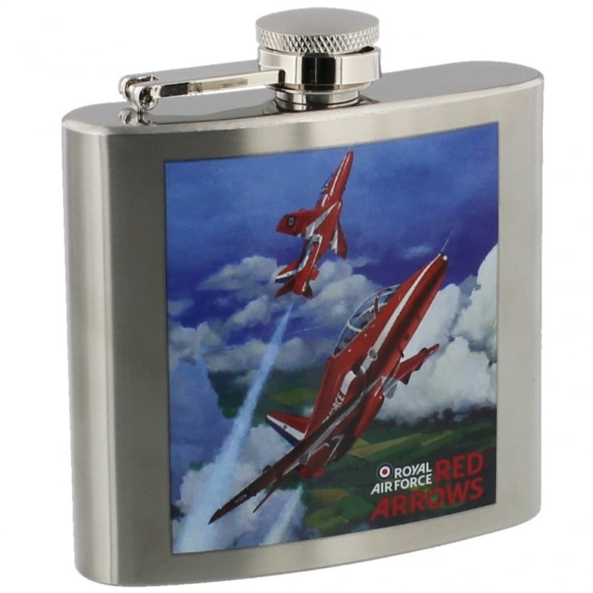 Red Arrows Painting Hipflask