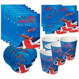 RAF Red Arrows Paper Party Complete Set for 6
