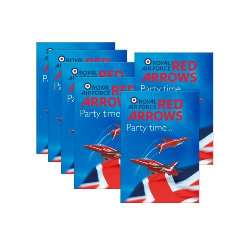 Red Arrows Party Invites - Set of 6