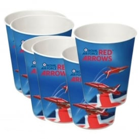 Red Arrows Party Paper Cups - Set of 6