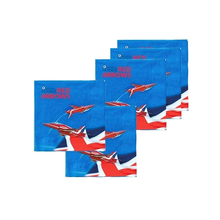 Red Arrows Party Paper Napkins - Set of 6