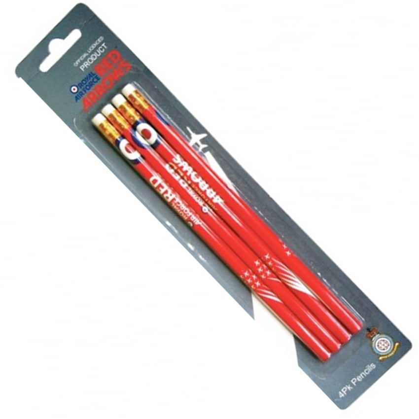 Red Arrows Pencils - Pack of 4