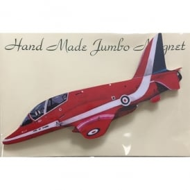 Lark Designs Red Arrows Side View Cut Out Jumbo Fridge Magnet