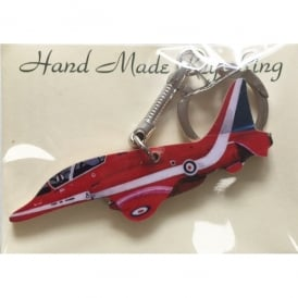 Lark Designs Red Arrows Side View Wooden Cut Out Keyring