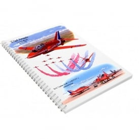 Little Snoring Red Arrows Spiral A6 Notebook