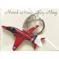 Red Arrows Wooden Cut Out Keyring