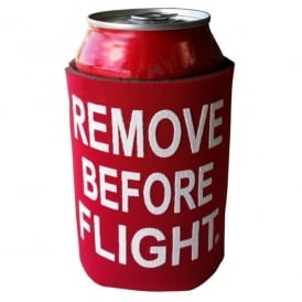 Gifts For Aviators Remove Before Flight Can Cooler