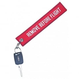 Gifts For Aviators Remove Before Flight Embroidered Keyring