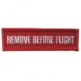 Remove Before Flight Iron On Patch