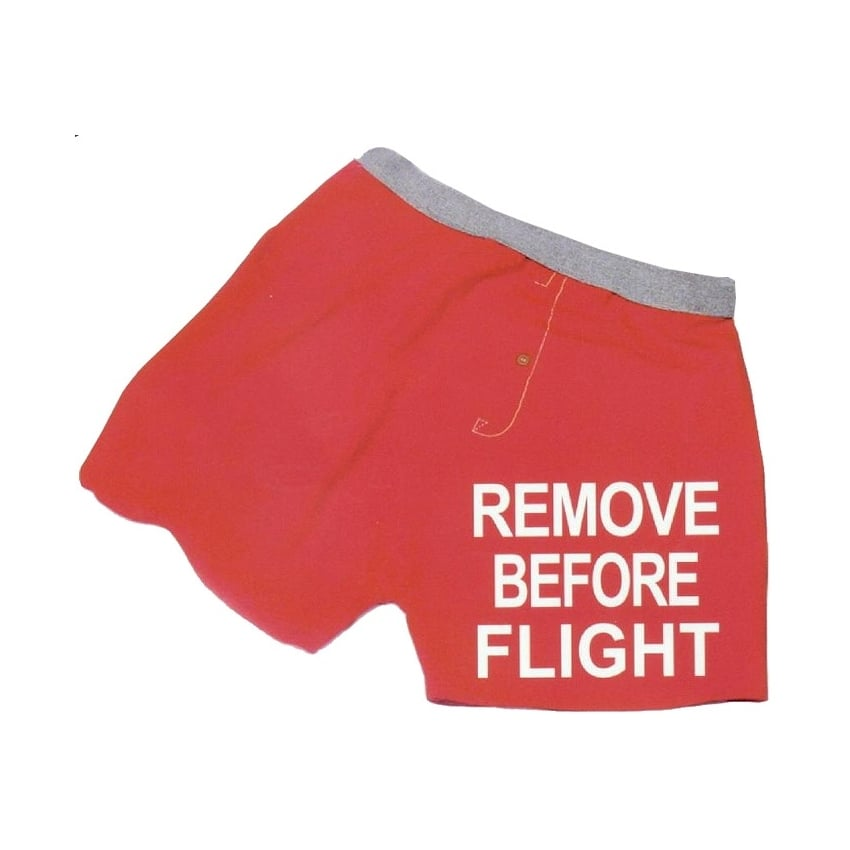 Remove Before Flight Mens Boxer Shorts