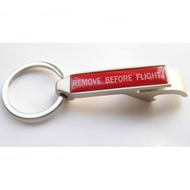 Gifts For Aviators Remove Before Flight Metal Keyring & Bottle Opener