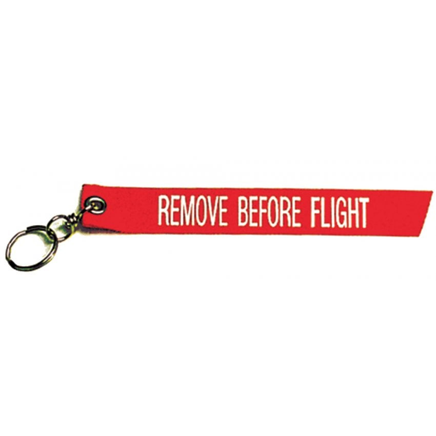 Remove Before Flight Ribbon Keyring