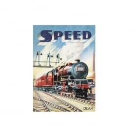 Retro 'Speed' Train Fridge Magnet
