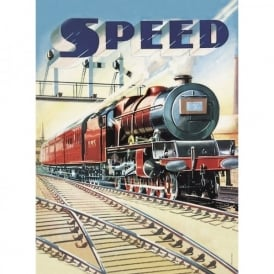 Retro 'Speed' Train Tin Sign