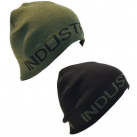 Reversible Beanie in Olive / Black