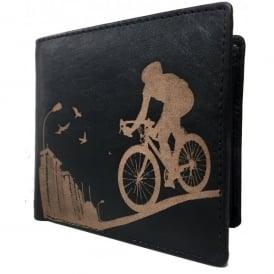 Road Bike Leather Wallet for Cards and Coins