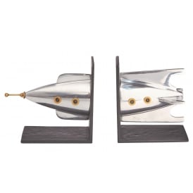 Rocket Aluminium Bookends